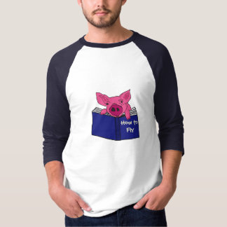AS- Funny Pig Reading How to Fly Book T-Shirt
