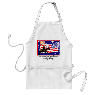 As good as apple pie and grilling. standard apron