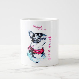 as hot as french kiss large coffee mug