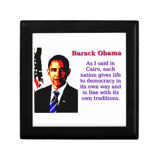 As I Said In Cairo - Barack Obama Small Square Gift Box