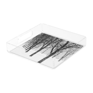 as I side with trees Acrylic Tray