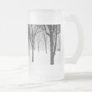as I side with trees Frosted Glass Beer Mug