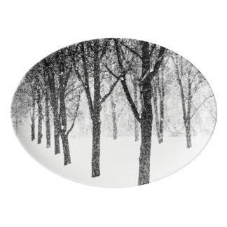 as I side with trees Porcelain Serving Platter
