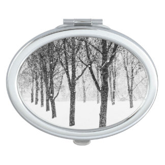 as I side with trees Travel Mirror