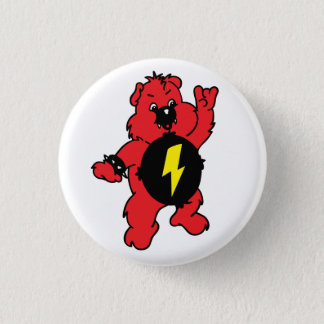 AS-IF Punk Bear 3 Cm Round Badge