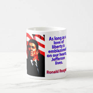 As Long As A Love Of Liberty - Ronald Reagan Coffee Mug