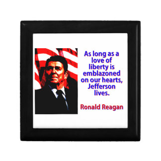As Long As A Love Of Liberty - Ronald Reagan Gift Box