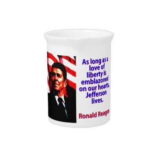 As Long As A Love Of Liberty - Ronald Reagan Pitcher
