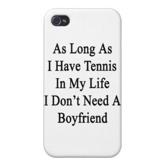 As Long As I Have Tennis In My Life I Don't Need A iPhone 4/4S Cases