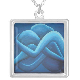 as one is love silver plated necklace