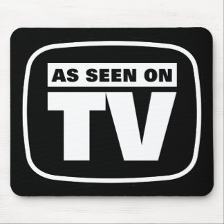As Seen on TV - Black and White Mouse Pad