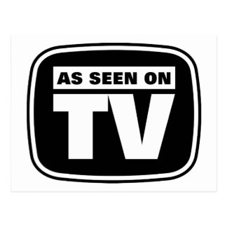 As Seen on TV - Black and White Post Card