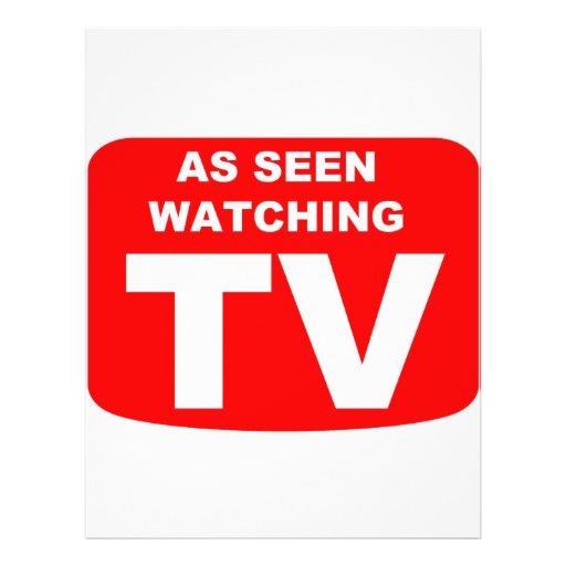 As Seen Watching TV Flyer