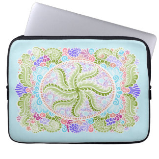 As Spring blooms , Kawaii, spring, flowers Laptop Sleeve