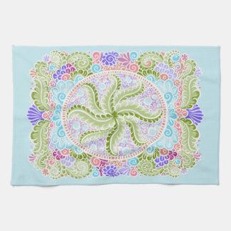 As Spring blooms , Kawaii, spring, flowers Tea Towel
