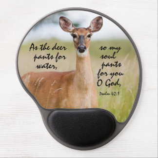 As the deer pants for water Bible Verse Psalm 42:1 Gel Mouse Pad