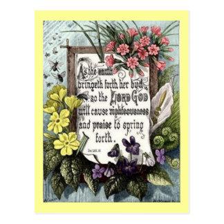 As The Earth Bringeth Forth Postcard