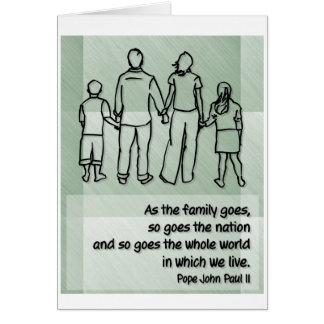 As the family goes ... Pope John Paul II Greeting Card