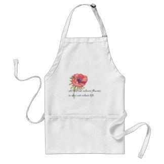 As the sun colours flowers standard apron