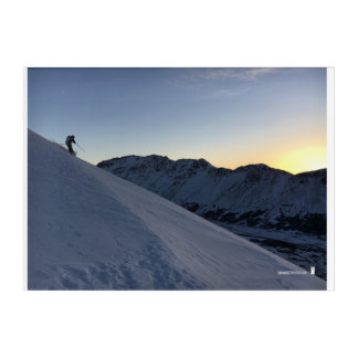 As the Sun Goes Down so do the Skiiers Acrylic Wall Art