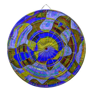 """""""As the Water Recedes"""" Metal Cage Dart Board"""