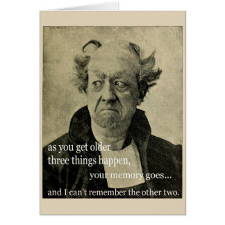 As You Get Older, Greeting Card