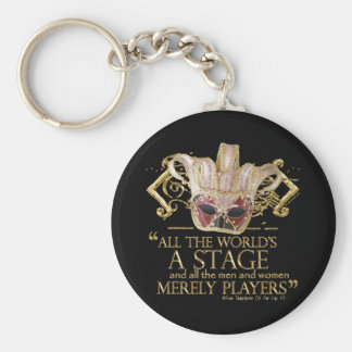 As You Like It Stage Quote (Gold Version) Basic Round Button Key Ring