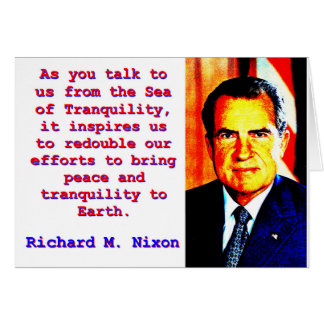 As You Talk To Us - Richard Nixon Card