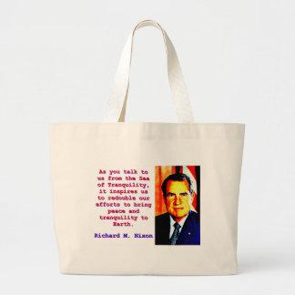 As You Talk To Us - Richard Nixon Large Tote Bag