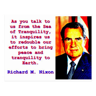 As You Talk To Us - Richard Nixon Postcard