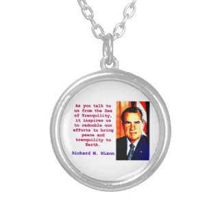 As You Talk To Us - Richard Nixon Silver Plated Necklace