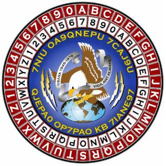 ASA Cipher Wheel 1 Standing Photo Sculpture