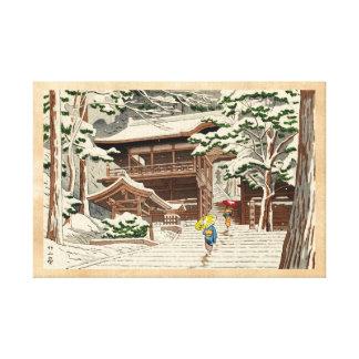 Asano Takeji Snow in Yuki Shrine shin hanga art Gallery Wrapped Canvas