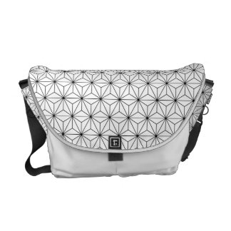 Asanoha Japanese Pattern Messenger Bag