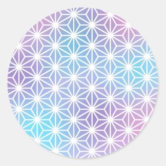 Asanoha Legend Round Sticker
