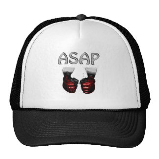 ASAP MMA red shoking  Gloves Cap