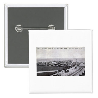 Asbury Park, New Jersey 1910 Vintage 15 Cm Square Badge