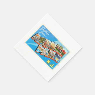 Asbury Park New Jersey NJ Vintage Travel Postcard- Paper Napkins