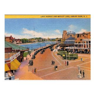 Asbury Park, New Jersey, Wesley Lake, Vintage Postcard