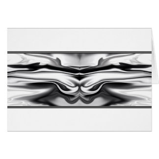 Ascension - chrome angel abstract greeting card