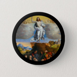 Ascension in Golden Clouds 6 Cm Round Badge