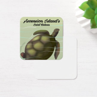 Ascension Island Sea Turtle Square Business Card