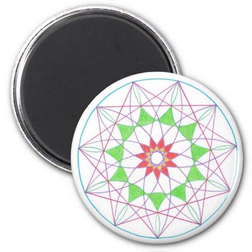 Ascension Mandala Refrigerator Magnet