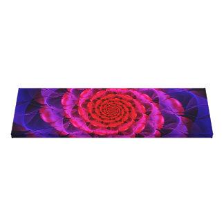 Ascension of a Vermilion Rose Fractal Spiral Bloom Canvas Print