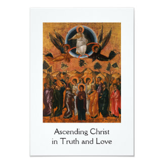 Ascension of Christ in Truth and Love 9 Cm X 13 Cm Invitation Card