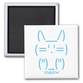 ASCII Cat Square Magnet