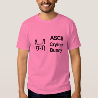 ASCII Crying Bunny Shirt