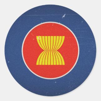 asean classic round sticker