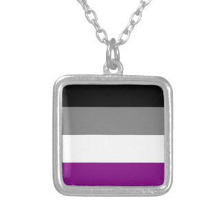 Asexual flag necklace