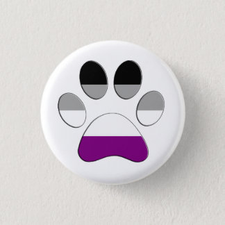 Asexual Paw 3 Cm Round Badge